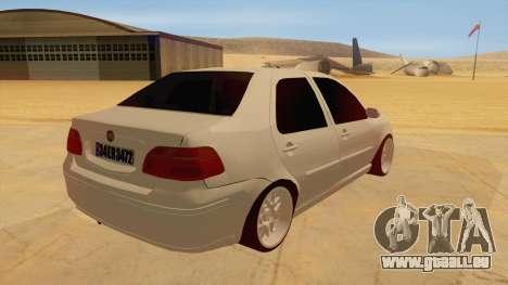 Fiat Albea pour GTA San Andreas vue de droite
