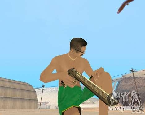 Gold weapons pack pour GTA San Andreas deuxième écran