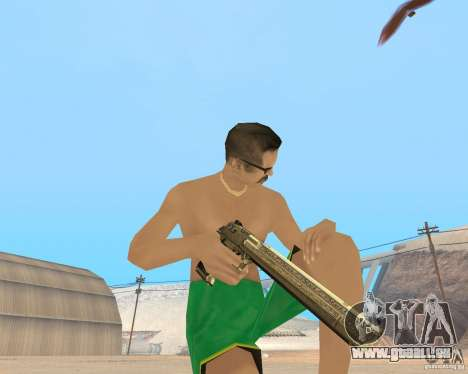 Gold weapons pack für GTA San Andreas zweiten Screenshot