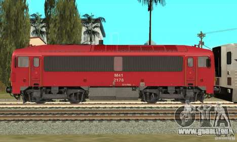 M41-Diesellokomotive für GTA San Andreas linke Ansicht