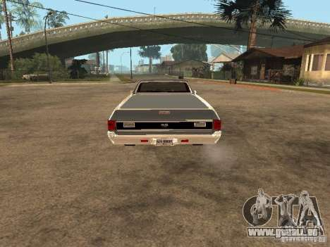 Chevrolet El Camino SS 454 1970 für GTA San Andreas zurück linke Ansicht