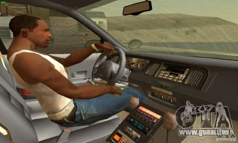 Ford Crown Victoria North Dakota Police für GTA San Andreas zurück linke Ansicht