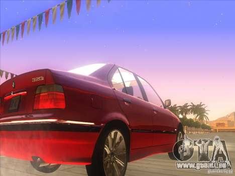 BMW E36 pour GTA San Andreas vue arrière