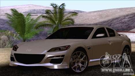 Mazda RX8 R3 2011 für GTA San Andreas rechten Ansicht