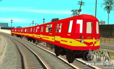 Liberty City Train Red Metro pour GTA San Andreas sur la vue arrière gauche