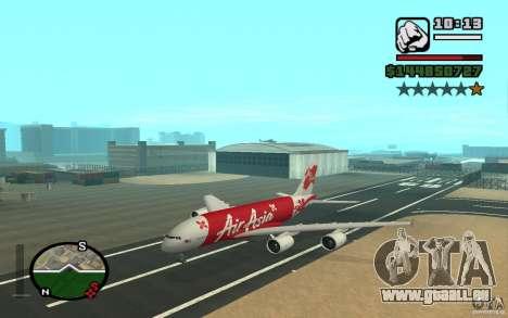 Airbus A380 800 Air Asia pour GTA San Andreas