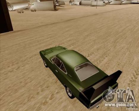 Dodge Charger Daytona 1969 pour GTA San Andreas sur la vue arrière gauche