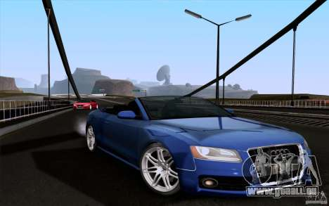 Audi S5 Cabriolet 2010 pour GTA San Andreas sur la vue arrière gauche