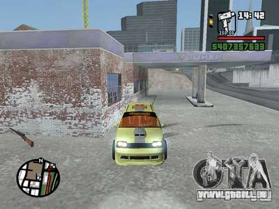 1111 OKA (tuning) pour GTA San Andreas vue intérieure