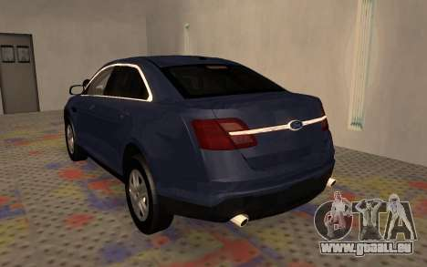Ford Taurus Interceptor Unmarked 2013 pour GTA San Andreas vue de droite
