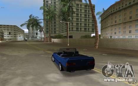 BMW M3 E30 Cabrio für GTA Vice City zurück linke Ansicht