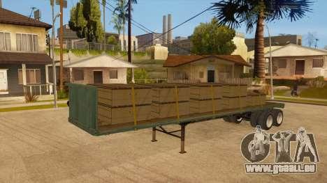 Chalut pour GTA San Andreas vue de droite