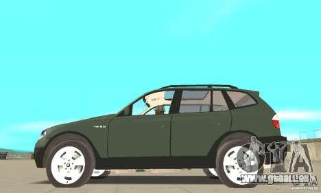 BMW X3 2.5i 2003 pour GTA San Andreas laissé vue