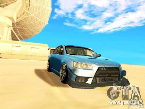 Mitsubishi Lancer Evolution X Time Attack für GTA San Andreas