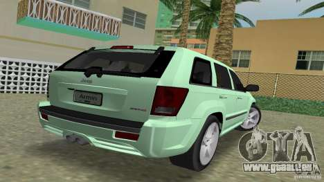 Jeep Grand Cherokee pour une vue GTA Vice City de la gauche