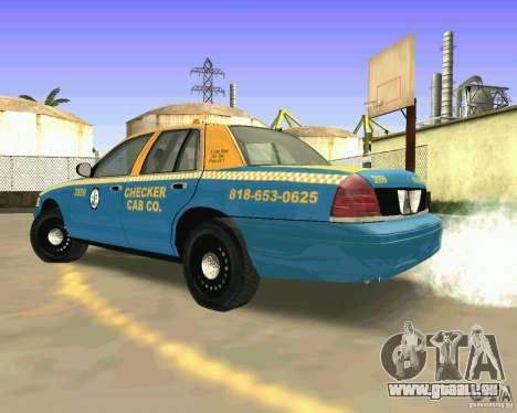 Ford Crown Victoria 2003 Taxi Cab pour GTA San Andreas sur la vue arrière gauche