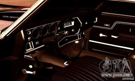 Chevrolet Chevelle 1970 pour GTA San Andreas salon