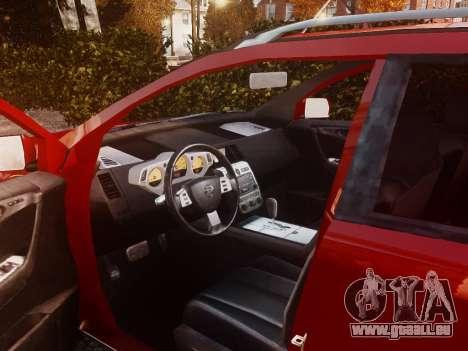 Nissan Murano Ti Z50 pour GTA 4 est une vue de l'intérieur