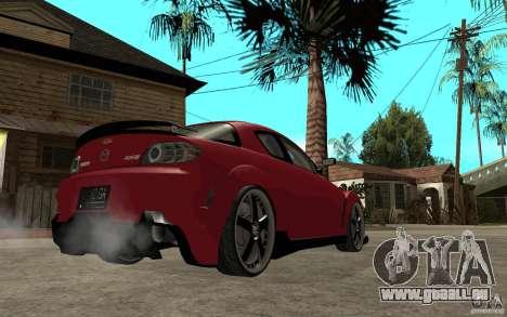 Mazda RX-8 Time Attack JDM pour GTA San Andreas vue de droite