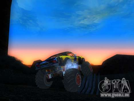 Fire Ball Paint Job 2 für GTA San Andreas zurück linke Ansicht
