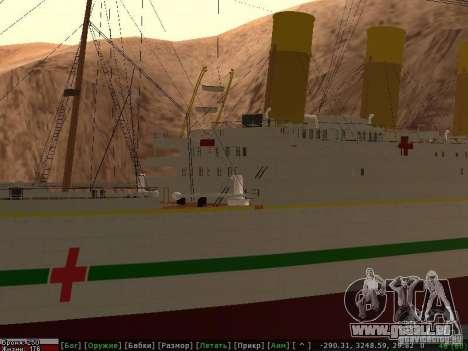 HMHS Britannic für GTA San Andreas Unteransicht