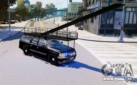 Chevrolet Suburban 2003 Norwegian SWAT Edition pour GTA 4 Vue arrière de la gauche
