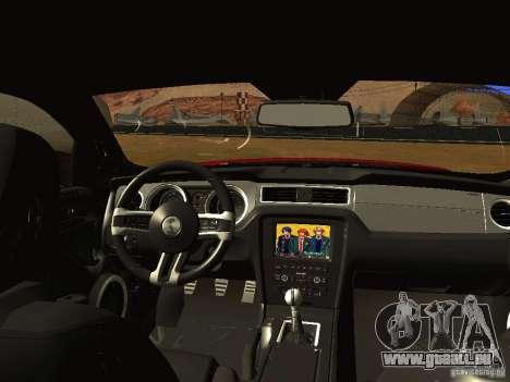 Ford Shelby GT500 für GTA San Andreas Rückansicht