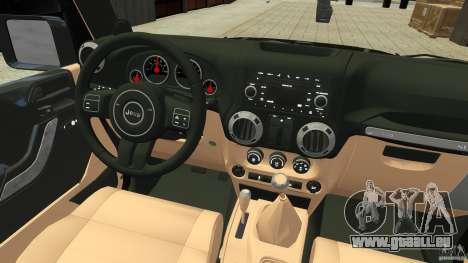 Jeep Wrangler Rubicon 2012 für GTA 4 Rückansicht