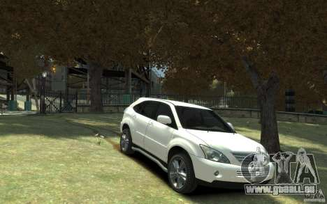 Lexus RX 400h pour GTA 4 est une vue de l'intérieur