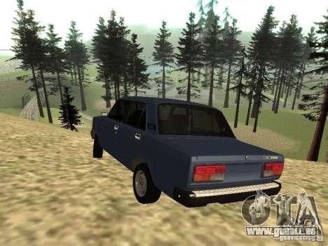VAZ 2107 v1.1 pour GTA San Andreas laissé vue