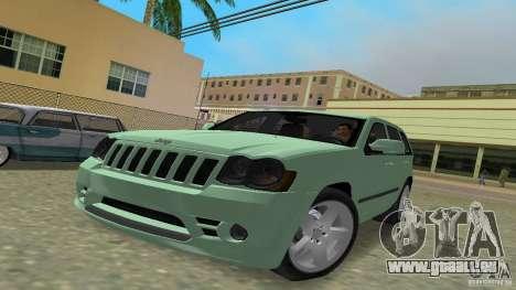 Jeep Grand Cherokee für GTA Vice City zurück linke Ansicht