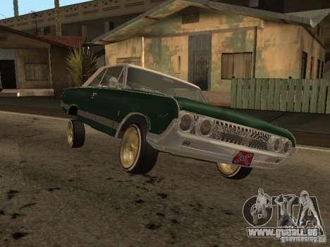 Mercury Park Lane Lowrider pour GTA San Andreas sur la vue arrière gauche