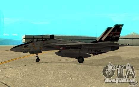 F-14A Screaming Eagles VF-51 pour GTA San Andreas sur la vue arrière gauche