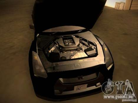 Nissan GT-R pour GTA San Andreas vue intérieure