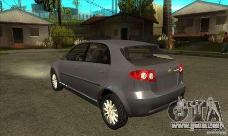 Chevrolet Optra 2011 Hatchback für GTA San Andreas zurück linke Ansicht