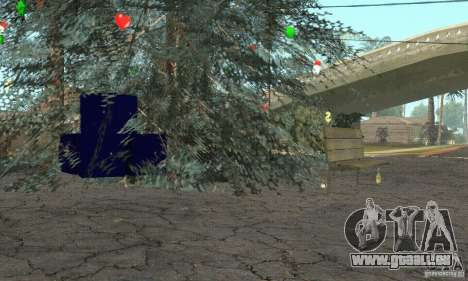 Sapin de Noël pour GTA San Andreas troisième écran