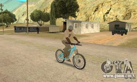 Dirt Jump Bike für GTA San Andreas Rückansicht