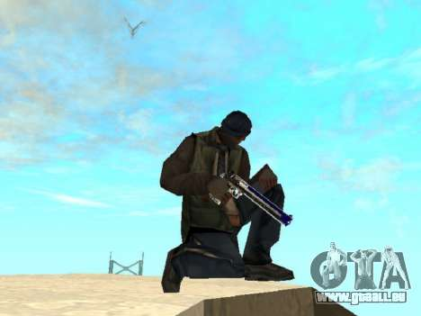 Blue and black gun pack für GTA San Andreas