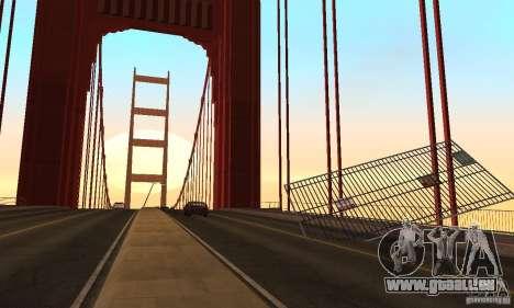 Pont détruit à San Fierro pour GTA San Andreas septième écran