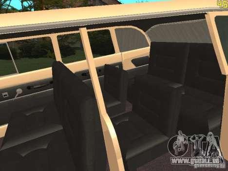 GAZ 13 pour GTA San Andreas vue intérieure