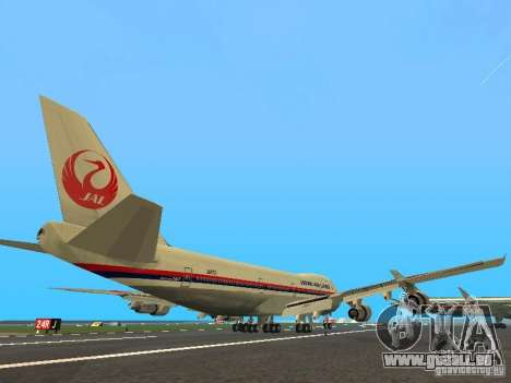 Boeing 747-100 Japan Airlines für GTA San Andreas rechten Ansicht