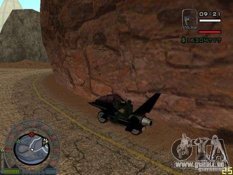 Motorrad der Alien-Stadt für GTA San Andreas linke Ansicht