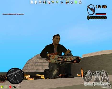 Smalls Chrome Gold Guns Pack pour GTA San Andreas cinquième écran