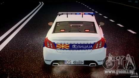 Peugeot 508 Macedonian Police [ELS] pour le moteur de GTA 4