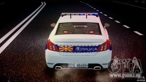 Peugeot 508 Macedonian Police [ELS] für GTA 4-Motor