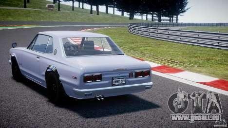 Nissan Skyline 2000 GT-R pour GTA 4 Vue arrière de la gauche