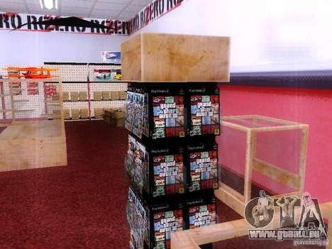 Disques avec la GTA en magasin zéro pour GTA San Andreas quatrième écran