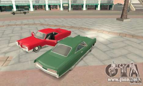 Pontiac Bonneville 1966 pour GTA San Andreas vue intérieure