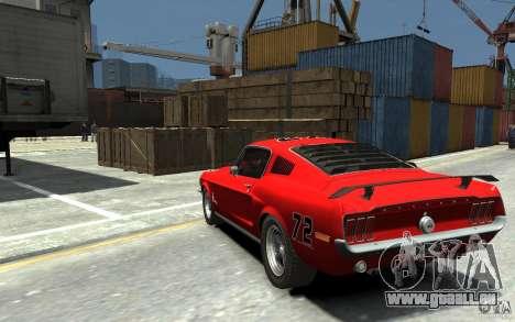 Ford Mustang Fastback 302did Cruise O Matic pour GTA 4 Vue arrière de la gauche