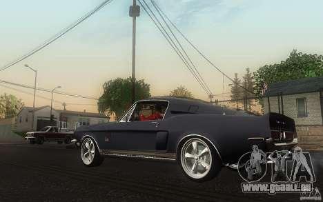 Shelby GT500KR pour GTA San Andreas sur la vue arrière gauche